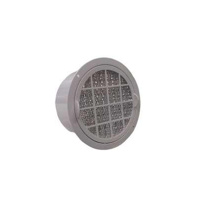 Bild von Fettfilter KF 1. Filterzellengehäuse und Einbaurahmen aus weissem Kunststoff. Ø 145mm. (80°C).