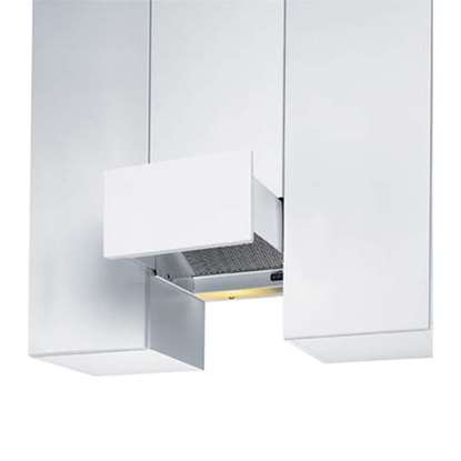 Image de Hotte d'aspiration EVM Studio modèle air tournante blanc, largeur 30 cm.