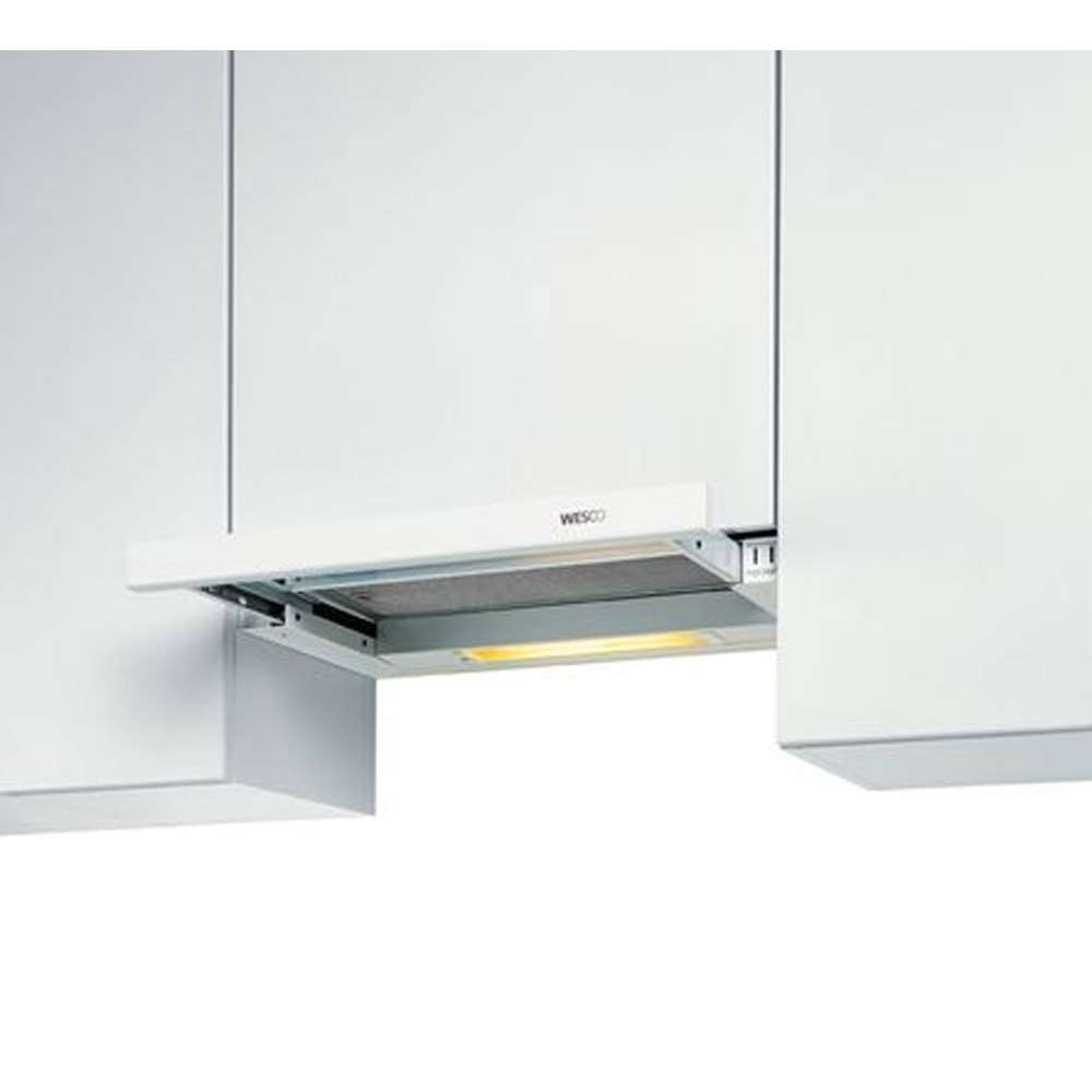 abzugshaube evm 204 60 weiss breite 60 cm griffleiste. Black Bedroom Furniture Sets. Home Design Ideas