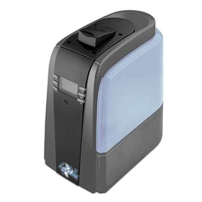 Immagine di Luftbefeuchter Dark Silver Warm/kalt Ultraschall mit Nachtbeleuchtung - mit Erhitzerfunktion zur Keimabtötung - geräuscharm