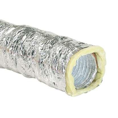 Immagine di Tubo flessibile isolato d'alluminio AFD-l 125-4 Lunghezza 4m. (-20°C + 140°C)