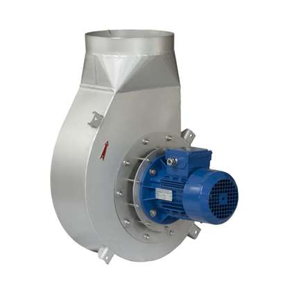Immagine di Ventilatore tubolare RB 1T-4, 400V. Versione in acciaio cromato.