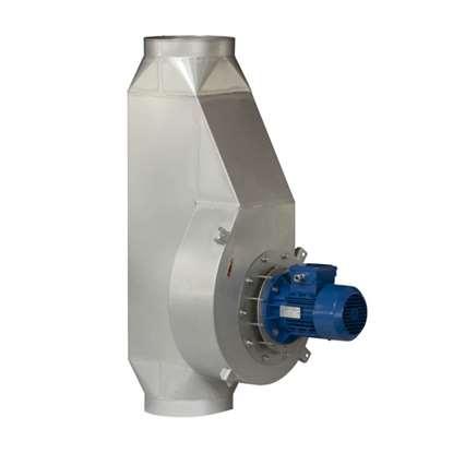 Immagine di Ventilatore a camino R-1T-2, 230V. Versione in acciaio cromato.
