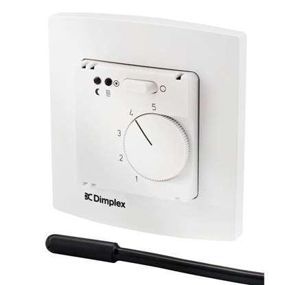 Image de Thermostat d'ambiance électronique avec horloge digitale hebdomadaire pour chauffage par le sol.