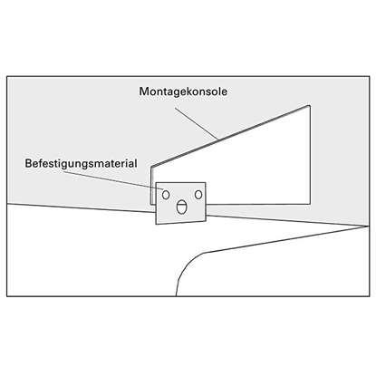 Immagine di Montagekonsole f. Heizstrahler Elztrip 106/111/115 für Wandmontage.
