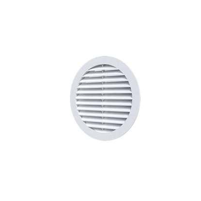 Image de Grille de ventilation en plastique 10RK, blanc, ronde Ø 100 mm Diamètre extérieur 130mm.