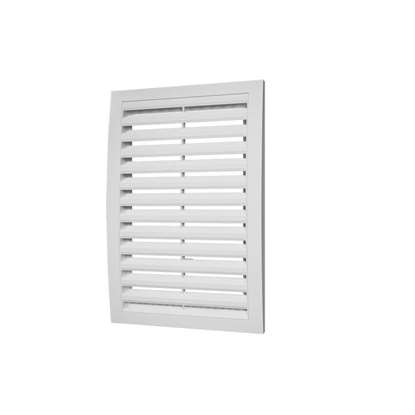 Immagine di Griglia di ventilazione in plastica 2525RR, 150x150 mm, bianco, senza zanzariera.