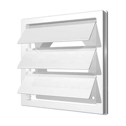 Immagine di Valvola di chiusura in plastica 2121K12.5F 150x150 mm, bianco. con Bocchettone