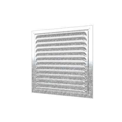 Bild von Metall Abluftgitter 1212MC, 125x125 mm, verz. Stahl mit Insektenschutzgitter. (Outdoor).