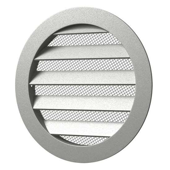aluminium abluftgitter 16rkm rund 160 mm aussen 185mm. Black Bedroom Furniture Sets. Home Design Ideas