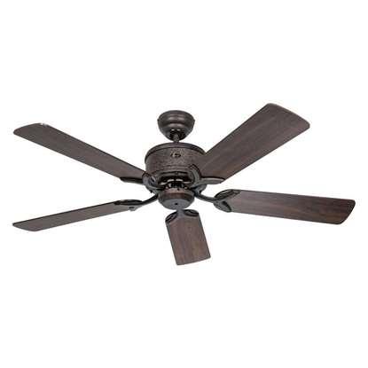 Immagine di Ventilatore da soffitto a risparmio energetico Eco Elements 132 BA marrone antico Ø 132cm. Eliche noce/faggio con telecomando