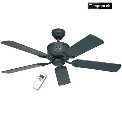 Immagine di Ventilatore da soffitto Eco Elements 132 GR, grafite Ø 132cm. Eliche grafite/nero con telecomando