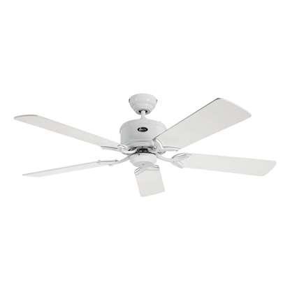 Bild von Energiespar Deckenventilator Eco Elements 132 WE, Weiss, Ø 132cm. Flügel Weiss/Lichtgrau, mit Fernbedienung