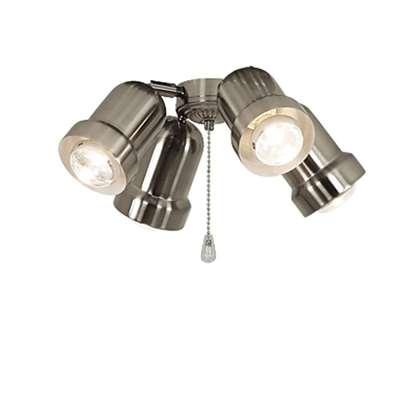 Immagine di Lampada Royal 4 spot in metallo regolabile cromo spazzolato per Eco Elements.