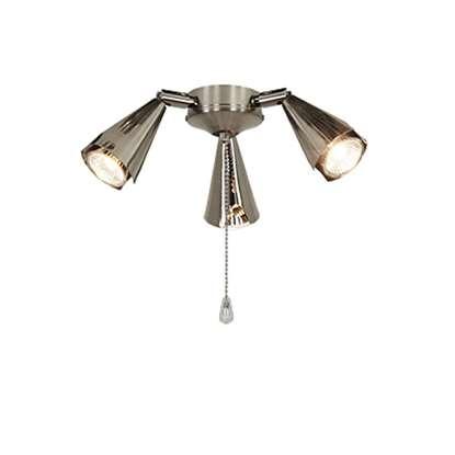 Immagine di Lampada Royal 5 spot in metallo alogena regolabile cromo spazzolato per Eco Elements.