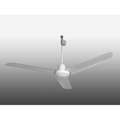 Immagine di Ventilatore da soffitto Industrie bianco, Ø 142 cm. 230V/50Hz, IP54 (altezza 69cm).