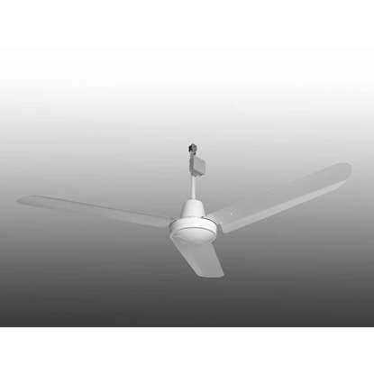 Immagine di Ventilatore da soffitto Industrie bianco, Ø 142 cm. 230V/50Hz, IP54 (altezza 44cm).