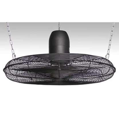 Image de Ventilateur de plafond avec grille de protection pour montage a 16m hauteur de halle,IP54 230V/50Hz