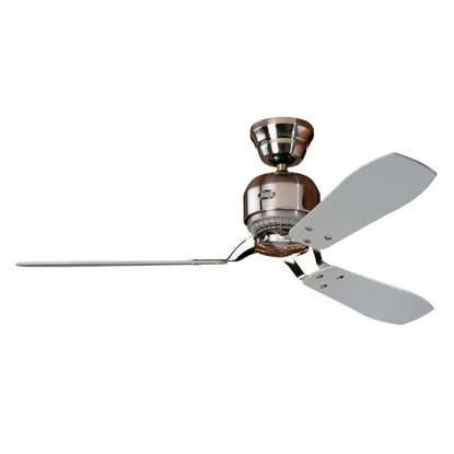 Image de Ventilateur de plafond Hunter Industrie chrome brossé 132cm.