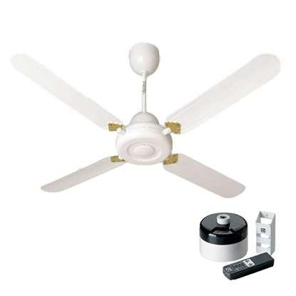 Image de Ventilateur de plafond Nordik Decor 1S 140 blanc Ø 142.2 cm. Avec télécommande infrarouge