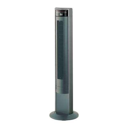 Image de Ventilateur à tour Ariante Tower Super, gris/noir. Hauteur 105 cm.