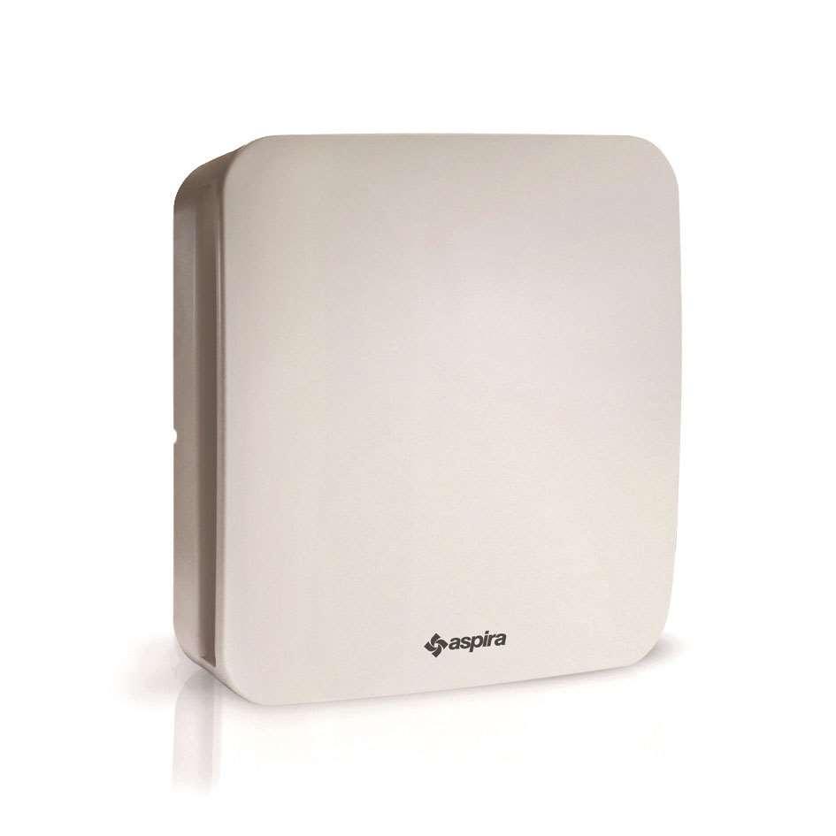 aspira bad wc ventilator aspirvelo 100 ht mit r ckschlagklappe nachlauf und hygrostat. Black Bedroom Furniture Sets. Home Design Ideas