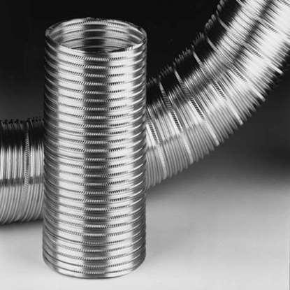Bild von Alu-Flex-Rohr DSDA Ø 125mm. Länge 1 m. Fördermitteltemperatur max. 250°C.