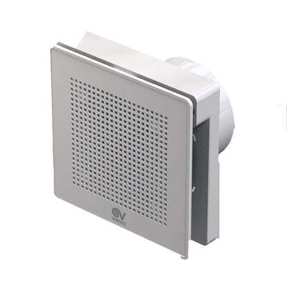 Bild von Vortice Bad-/WC-Ventilator Punto EVO 100 LL T. Mit Rückschlagklappe und Nachlauf.