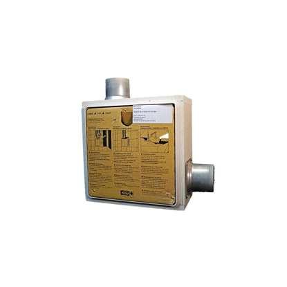 Bild von UP-Gehäuse mit Zweitraumanschluss und Brandschutz- Beschichtung (rechts). (Helios)