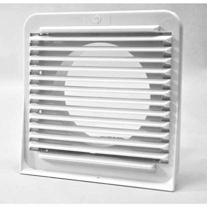 Bild von Wetterschutzgitter GE 155x155mm weiss Ø Stutzen 98mm zu Bad-/WC-Ventilator Mini. (O.Erre)