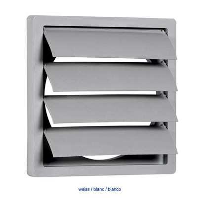 Image de Clapet de fermeture en plastique RK 10/12 160x160mm sans manchon, blanc.