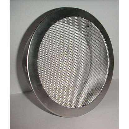 Bild von Entlüftungsgitter ERAF Alu Ø 150mm, Stutzen 45mm, Klemmlaschen. Insektenschutzgitter aus Aluminium.