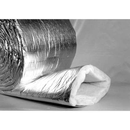 Immagine di Incamiciatura isolante per tubo a spirale Ø 100 mm. Isolamento in fibra di vetro 25mm. Unità di 10m.