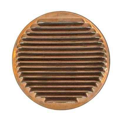 Image de Grille de ventilation SG 315 en cuivre enfichable. Grille extérieure avec moustiquaire.