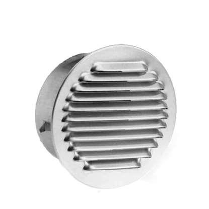 Image de Grille de ventilation SG 315 en acier chromé enfichable. Grille extérieure avec moustiquaire.