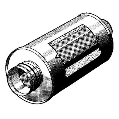 Bild von Rohrschalldämpfer SD=200mm, Länge 1000mm. 50mm Isolation.