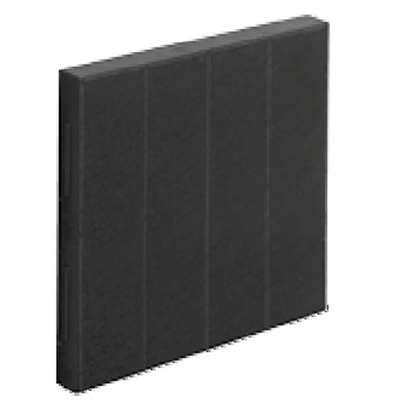 Image de Filtre à charbon pour hotte EVM air circulation 55 2 pièces nécessaire (500x170x20 mm).