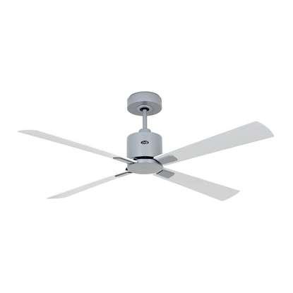 Immagine di Ventilatore da soffitto a risparmio energetico Eco Convcept 132 LG-WE/LG, Ø 132 cm, bianco/grigio chiaro. Colore eliche bianco/grigio chiaro Con telecomando.