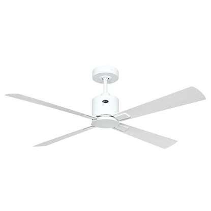 Immagine di Ventilatore da soffitto a risparmio energetico Eco Convcept 132 WE-WE/LG, Ø 132 cm, bianco. Colore eliche bianco/grigio chiaro Con telecomando.