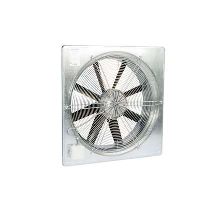 Image de Ventilateur axial Fischbach 230V, AW 420 / E15 (anneau mural carré) avec grille de protection.