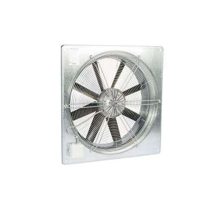 Image de Ventilateur axial Fischbach 230V, AW 560 / E65 (anneau mural carré) avec grille de protection.
