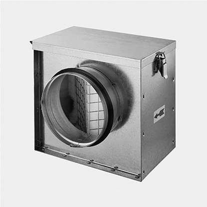 Immagine di Cassa di filtro RFK-150. Cassa in lamiera di acciaio zincato.