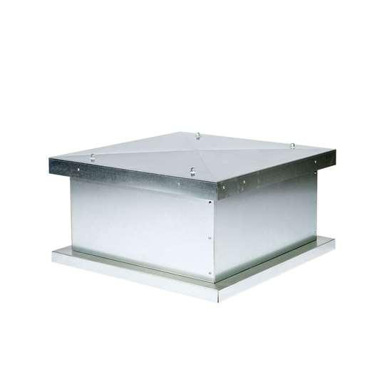 Immagine di Ventilatore da tetto 230V, 40-2,  CE 570/E 15, scarico orizzontale, aspirazione a senso unico. Ventilatore radiale con pale incurvate in avanti. (Fischbach)
