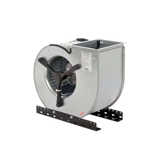 Image sur Ventilateur radiaux 400V, CE9-090/DM 2.5, aspiration d'un côté. Côté d'aspiration à droite. Avec des pales recourbées en avant. Avec moteur EC. (Fischbach)