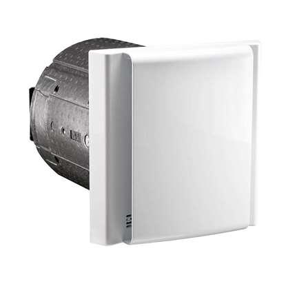 Image de Appareil de ventilation DL50 WA 2 avec panneau de paroi intérieure unité de commande au panneau de paroi intérieure. Récepteur En-Ocean intégré en standard, pour la connexion de la télécommande radio optionnelle.
