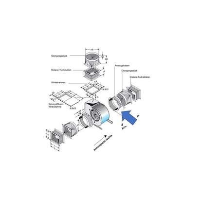 Image de Manchon d'aspiration pour côté d'aspiration. Pour CFE 930, CE 990, CE9-090, CFE 930, CFE9-070. (Fischbach)