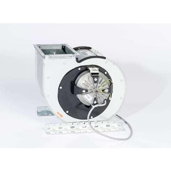 Image sur Ventilateur radiaux 230V, CEK 570/E 25. Thermo compacte, Côté d'aspiration à droite. Avec des pales recourbées en avant et moteur externe. (Fischbach)