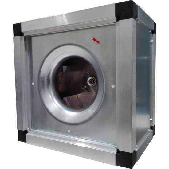 Bild von Radialventilator 400V, Easy-Box FEB 500/D 1. Küchenabluftventilator mit Freilaufrad und rückwärts gekrümmten Schaufeln. Auch für vertikale Montage geeignet. (Fischbach)