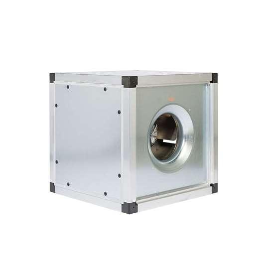Image sur Module d'évacuation d'air thermique 400V, FMBT EC-40/450 DM850. Ventilateur radiaux avec une roue libre et des pales recourbées en arrière. Avec moteur EC et Controller 0 - 10V. (Fischbach)