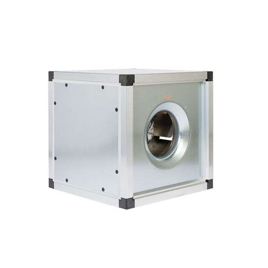 Image sur Module d'évacuation d'air thermique 400V, FMBT EC-40/500 DM1. Ventilateur radiaux avec une roue libre et des pales recourbées en arrière. Avec moteur EC et Controller 0 - 10V. (Fischbach)